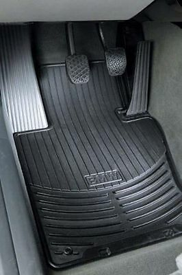 BMW 5 Series E39 Genuine Rubber All Weather Front Mats Black 82550151196