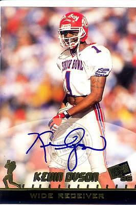 kevin dyson rookie rc draft auto autograph utah utes college 1998