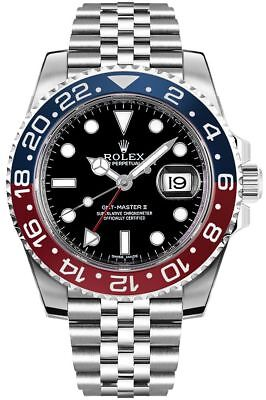 "NEW Rolex GMT-Master II""Pepsi"" Men's Luxury Watch 126710BLRO"