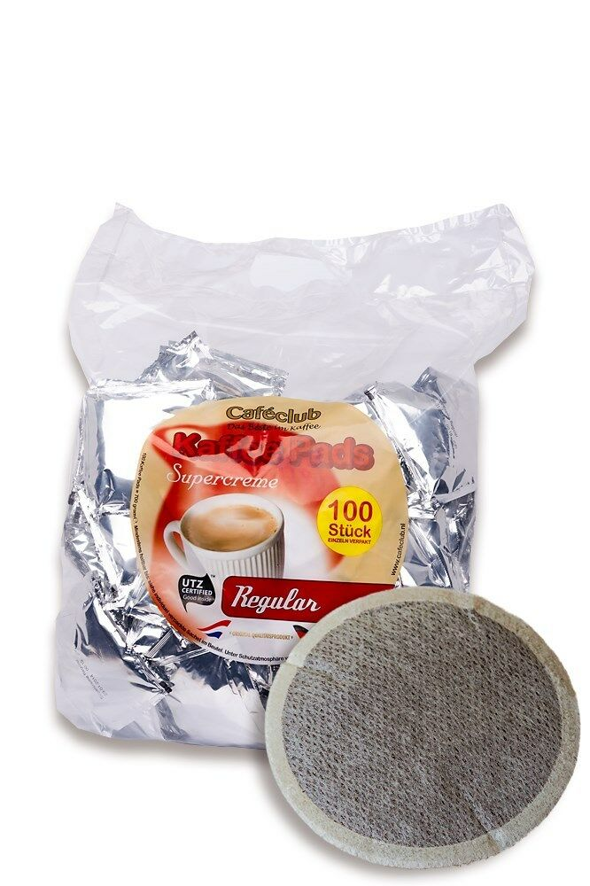 Cafeclub Megabeutel, 100 Kaffeepads Supercreme Regular z.B.Pad für Senseo