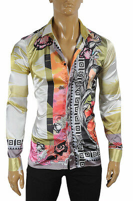 VERSACE Men's Multicolor Flash Dress Shirt Long Sleeve 179 Size XL