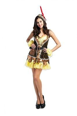 Womens Sexy Delux ROBIN HOOD MAID MARIAN MEDIEVAL Fancy Dress Costume Outfit](Maid Marian Outfit)