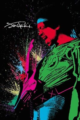 Jimi Hendrix   Spray Paint   Art Poster 24X36   Music Guitar 51830