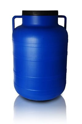 Plastic barrel 80L Water Storage Container Drum Keg Food Grade Tank Screw Lid