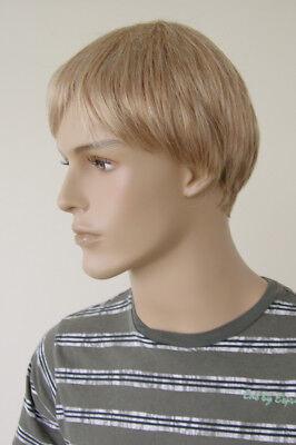 JI DISPLAY Männer Perücke Wig JM-W103 Mannequin Schaufensterpuppe Haare Blond