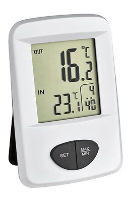 TFA Dostmann Digitales Thermometer  30.3061.02  Funk Innen & Außen Max Min R5.12