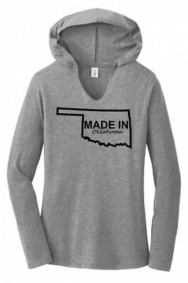Made In Oklahoma State Pride Ladies Hoodie T-Shirt Home Holiday Gift  - Oklahoma Ladies T-shirt