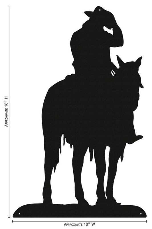 SWEN Products COWBOY ON HORSE Simple Silhouette