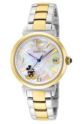 Invicta Women 24774 Stainless Steel Gold Silver Pearl Disney Mickey Mouse Watch