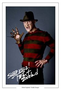 ROBERT ENGLUND FREDDY KRUEGER SIGNED PHOTO PRINT POSTER NIGHTMARE ON ELM STREET
