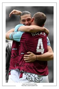 ANDY-CARROLL-AND-KEVIN-NOLAN-WEST-HAM-SIGNED-PHOTO-PRINT-AUTOGRAPH-SOCCER