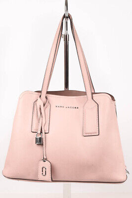 Marc Jacobs The Editor pink grainy leather open top tote handbag purse $495