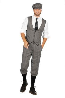 20er Jahre Peaky Blinders Anzug Knickerbocker Herren Kostüm Mütze - Herren Weißen Anzug Kostüm