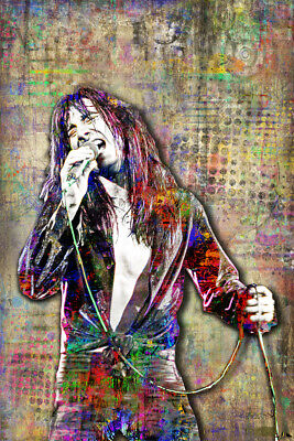 Steve Perry of Journey Pop Art Poster, Journey Tribute Art 12x18in Free Shipping