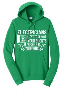 ELECTRICIANS CHECK SHORTS CHECK BOX STRIPPERS FUNNY MENS HOO