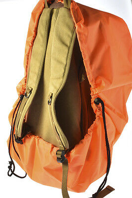 Orange Reflective Waterproof Backpack Cover Dust Rain Hiking Camping Rucksack