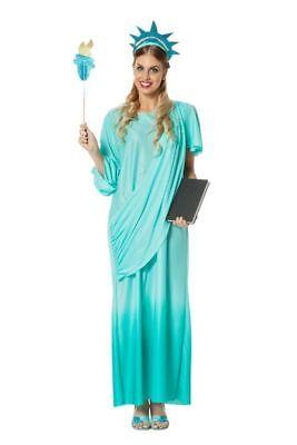 WIL - Damen Kostüm Freiheitsstatue Karneval - Freiheitsstatue Kostüm