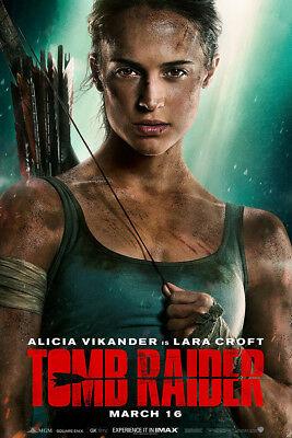 Tomb Raider 2018 Art Poster 48X32  36X24  21X14  Alicia Vikander Print Silk