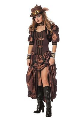 WIL - Damen Kostüm Steampunk Saloon Girl Karneval Fasching
