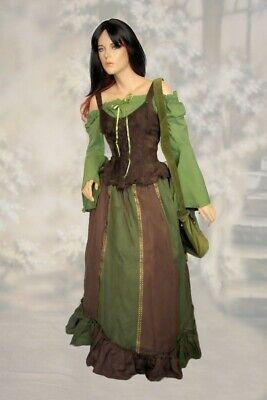 Mittelalter Larp MPS Gewandung Kleid Halldis Bluse Rock Mieder - Top 36 38 40 - Mieder Baumwolle Kostüm