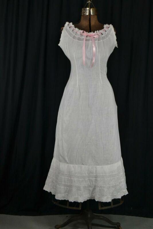 camisole chemise slip long corset cover Edwardian white waist 30 original 1900
