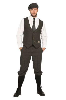 20er Jahre Peaky Blinders Anzug Knickerbocker Herren Kostüm Mütze Oliv-Schwarz (20er Jahre Herren Kostüme)