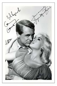 CARY GRANT + JAYNE MANSFIELD KISS THEM FOR ME SIGNED PHOTO PRINT AUTOGRAPH