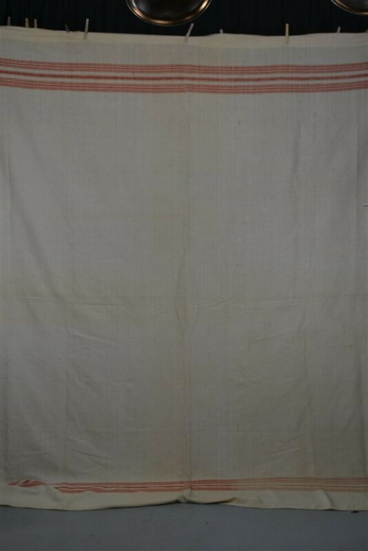 blanket wool hand woven home spun narrow loam 78x92 Civil War Era antique