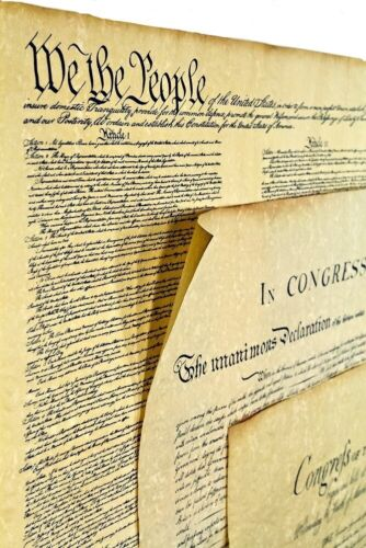 3 Documents of Freedom Set Constitution, Declaration of Independence, Bill of ..