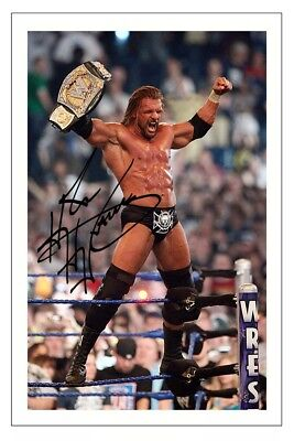 TRIPLE H WWE WRESTLING SIGNED PHOTO PRINT AUTOGRAPH
