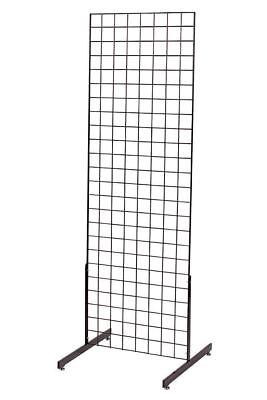 Gridwall Panel Display 2 X 6 Grid Wall Black 2 Legs Standing Fixture Metal