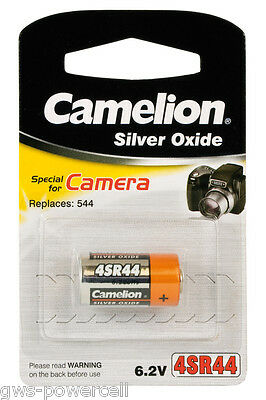 2 x Camelion 4SR44 Zelle Batterie V28PX Silberoxid 145 mAh 6,2V  4 SR 44