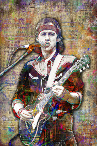 MARK KNOPFLER DIRE STRAITS Tribute Poster KNOPFLER Pop Art with Free Shipping US
