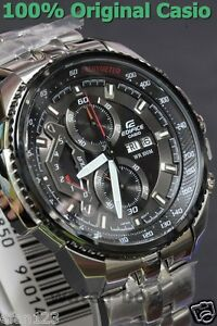 EF-558D-1A Genuine Casio Men's Watch Edifice Black Analog Date Day Chronograph