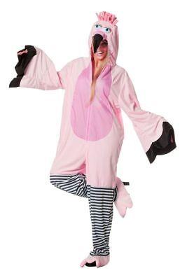 Karneval Vogel Kostüm (WIL - Damen Kostüm Flamingo Vogel Karneval Fasching)