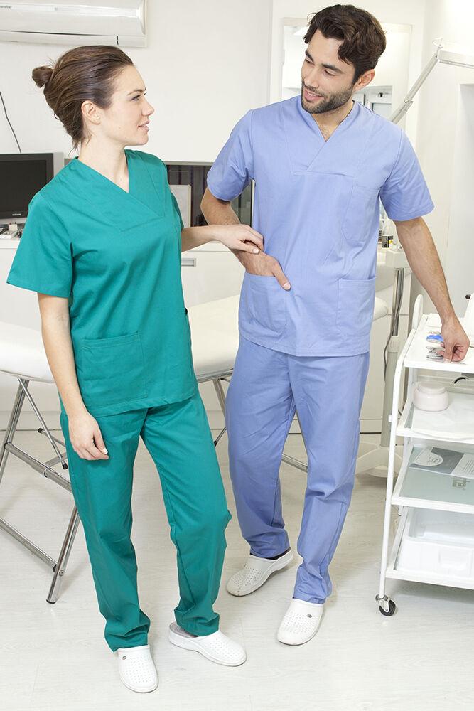 Pantaloni medico infermiere da Lavoro Uomo Donna pantalaccio Abbigliamento abiti