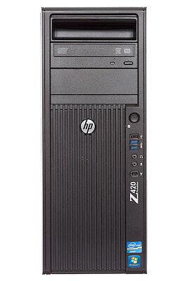 HP Z420 Workstation Xeon E5-1650 3.2ghz 6-Core / 32gb / 1tb / FX570 / Win7 Pro64