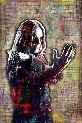 OZZY Osbourne 20x30inch Poster Ozzy Artwork Ozzy Of Black Sabbath Free Shipping