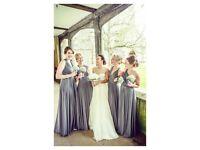 Gray/silver multiwear bridesmaid dresses x3