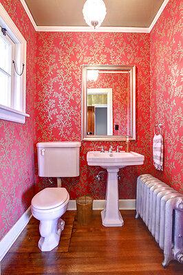 Vibrant wallpaper can bring a bathroom to life