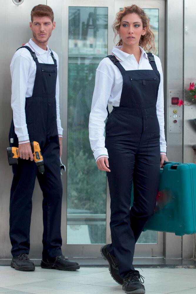 Salopette Pantalone Pantaloni da Lavoro Uomo Donna Operaio Abbigliamento Cotone