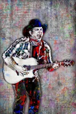 GARTH BROOKS 20x30inch Poster Garth Brooks Pop Art With Free Shipping In US