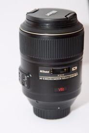 Nikon AF-S VR Micro / Macro NIKKOR 105mm f / 2.8G IF-ED Lens