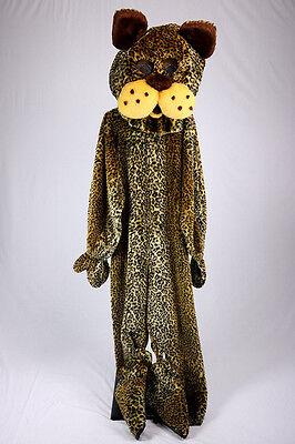 Leopard Maskottchen Kostüm Gepunktet Katze Kunstpelz Overall Parade - Schwarz Kostüm Parade