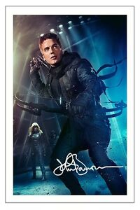 JOHN BARROWMAN ARROW MALCOLM MELRYN SIGNED PHOTO PRINT AUTOGRAPH