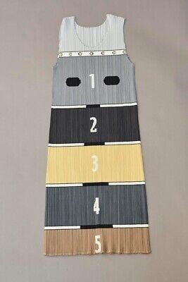Pleats Please Issey Miyake Grey Dress SIZE 4 ,80cm length