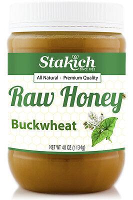 40 oz Buckwheat 100% Pure Natural Fresh Michigan Raw Honey Gluten Free - Honey Gluten Free