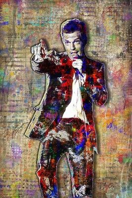 Brandon Flowers Of THE KILLERS 12x18inch Poster Killers Tribute Free Shipping
