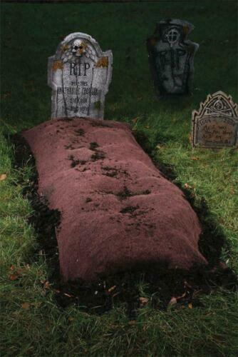 Life Size GRAVEYard MOUND  Halloween Prop Yard HAUNTED HOUSE Tombstone Decor
