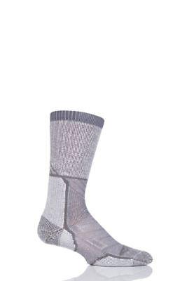 2 x Pairs of Thorlos Mens Outdoor Explorer Walking Socks Grey Sky Size Medium